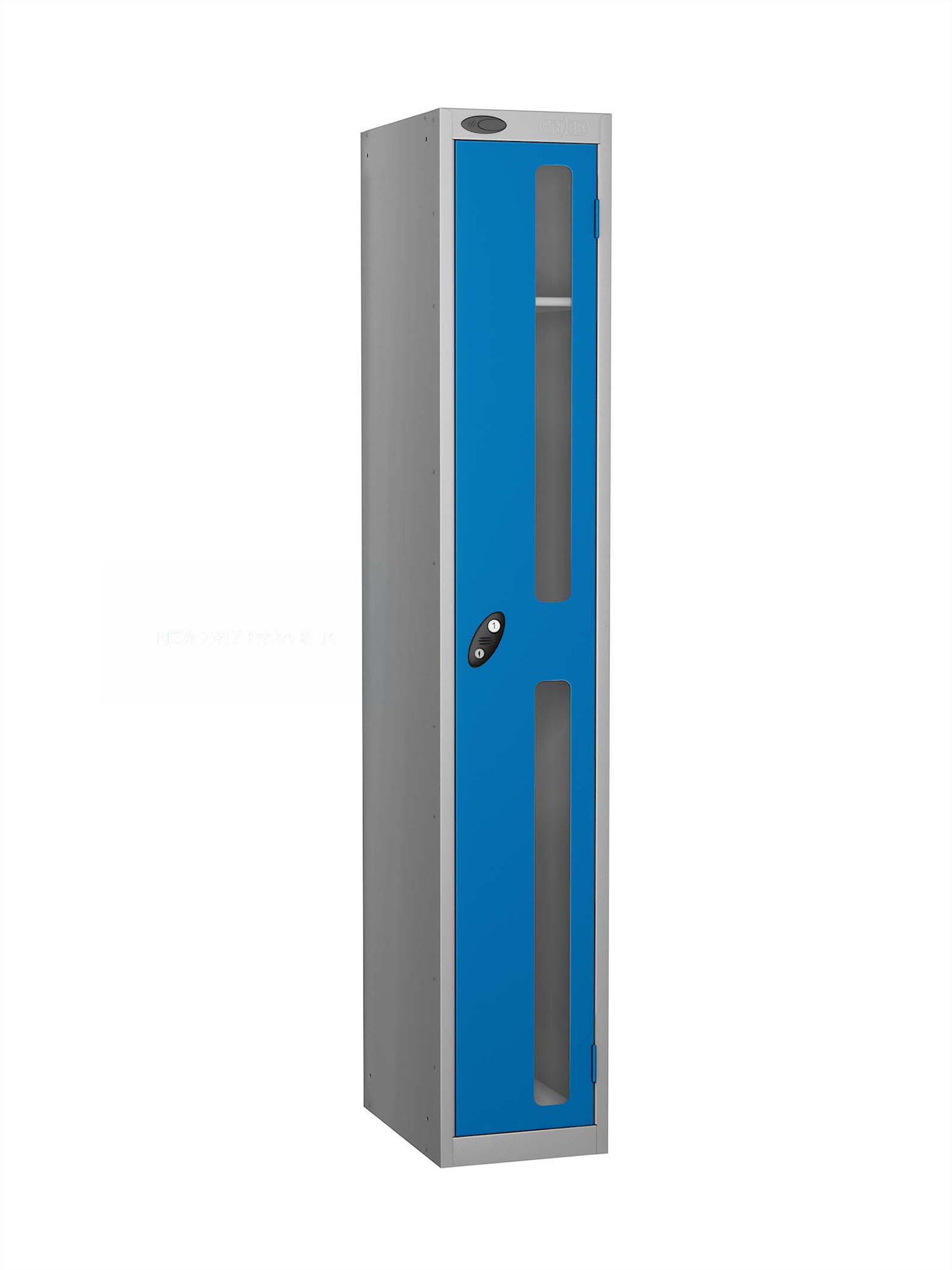 Probe 1 door vision panel anti-stock theft locker blue