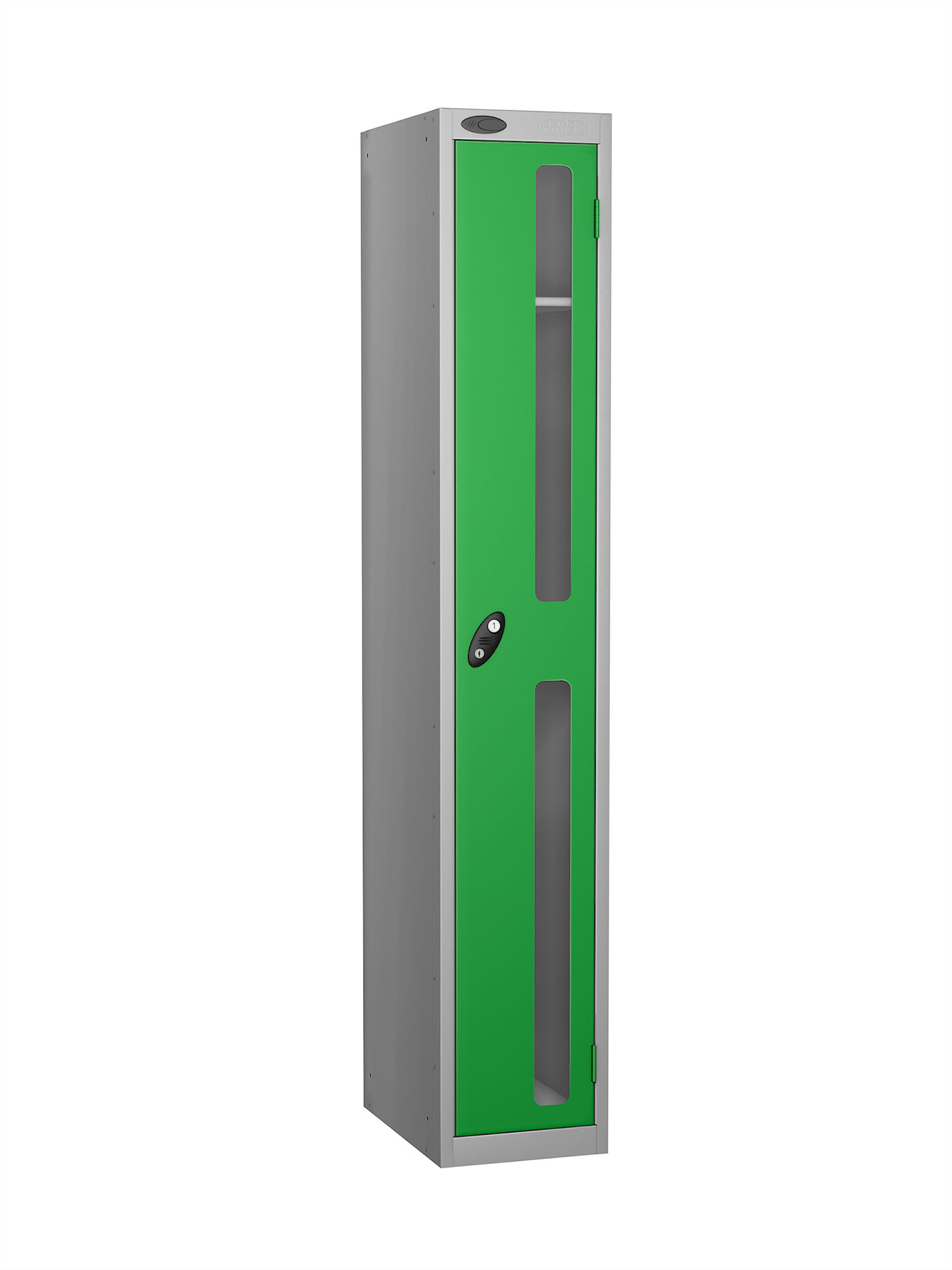 Probe 1 door vision panel anti-stock theft locker green