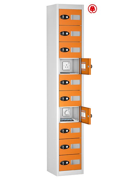 Probe 10 doors orange tabbox charging locker for tablets