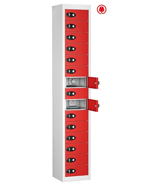 Probe 10 doors red tabbox charging locker