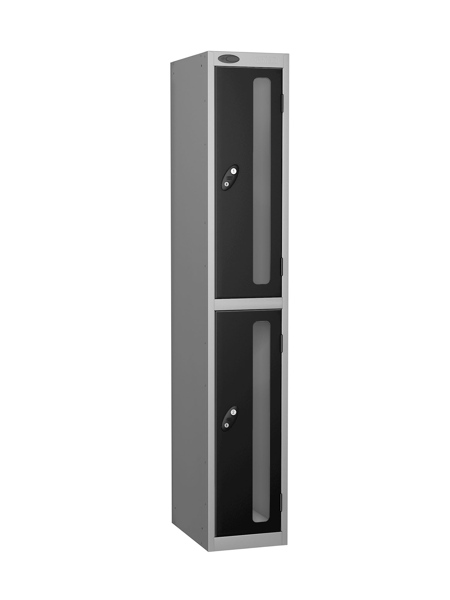 Probe 2 doors vision panel anti-stock theft locker black