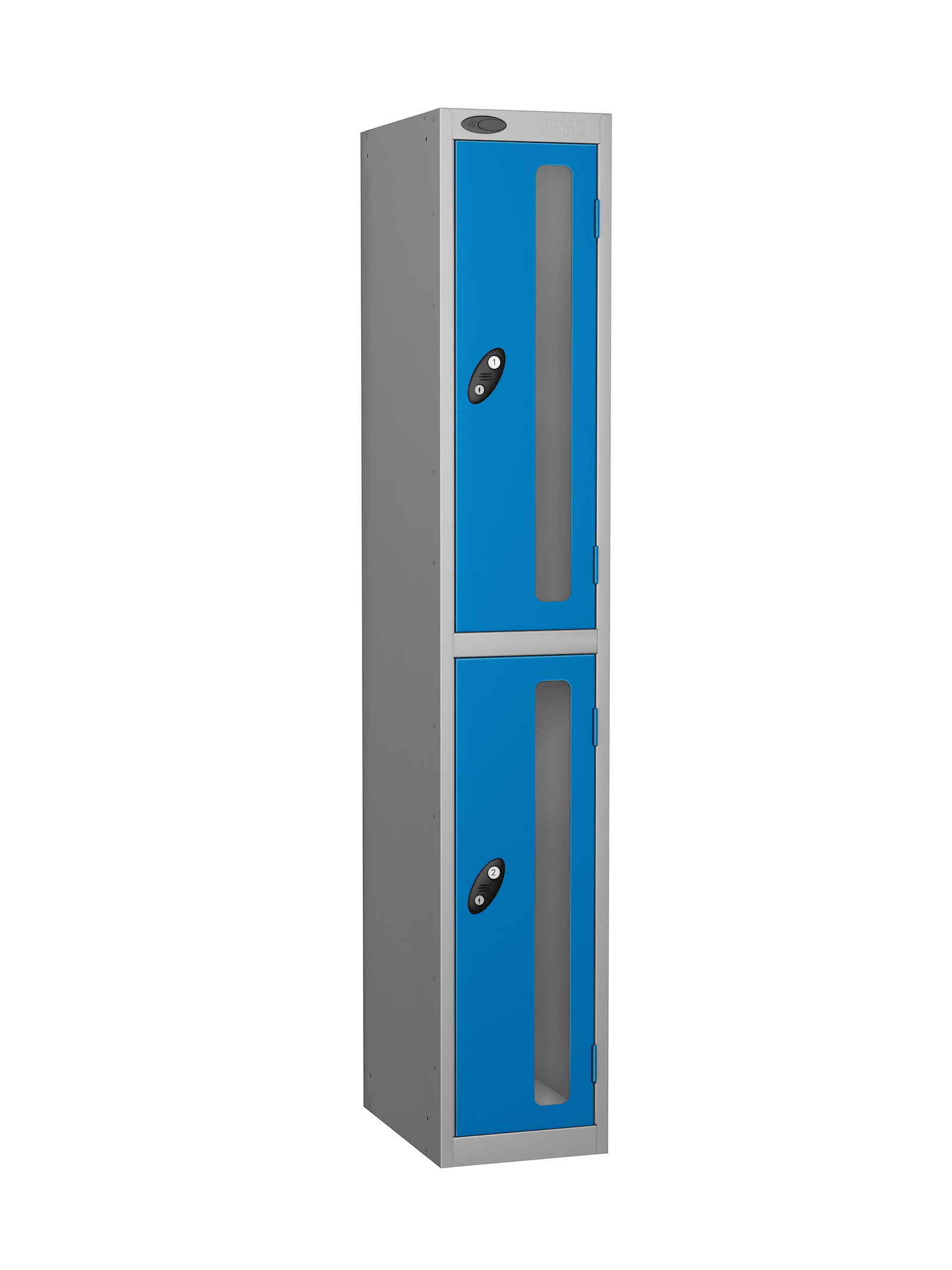 Probe 2 doors vision panel anti-stock theft locker blue