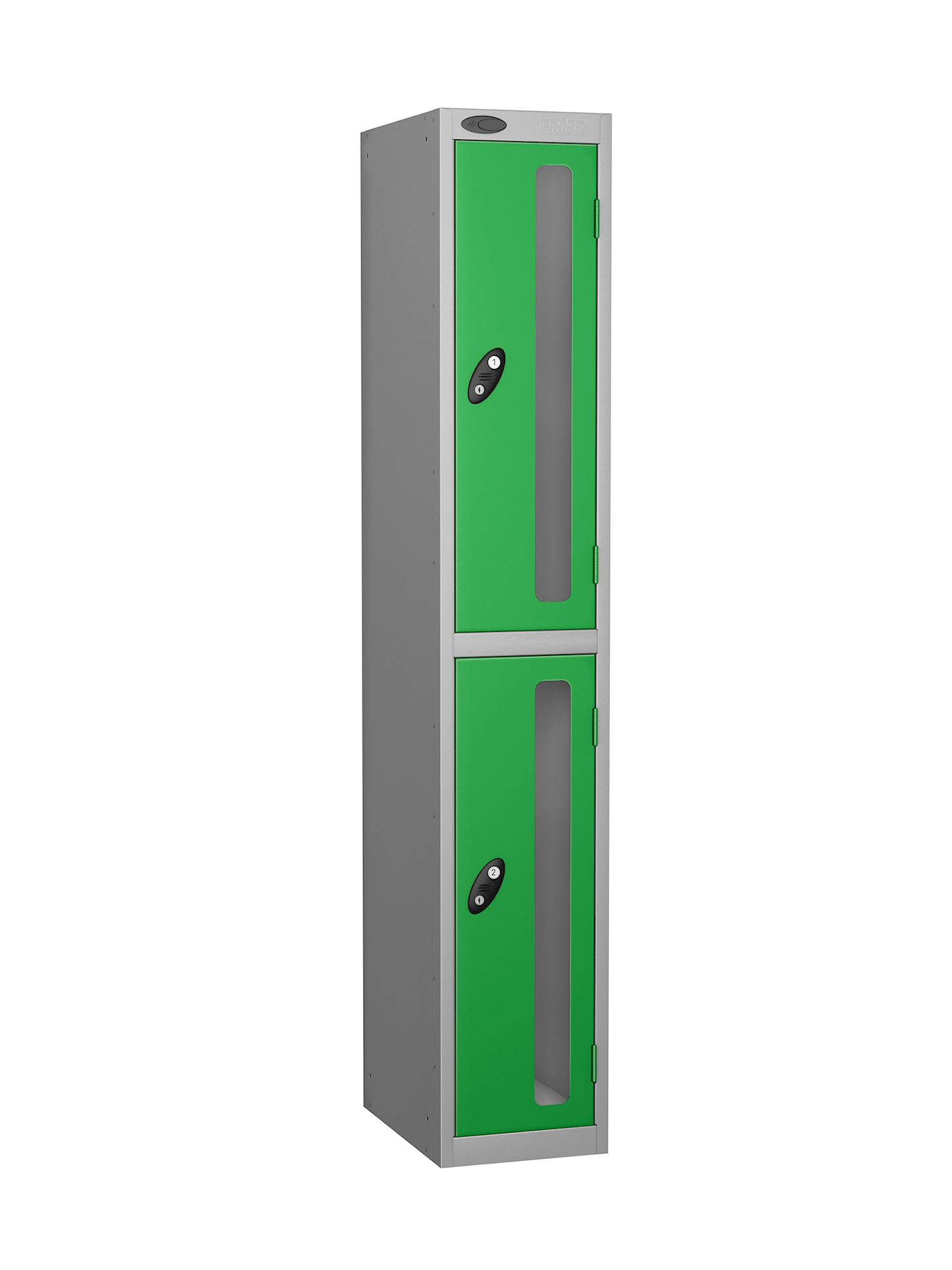 Probe 2 doors vision panel anti-stock theft locker green