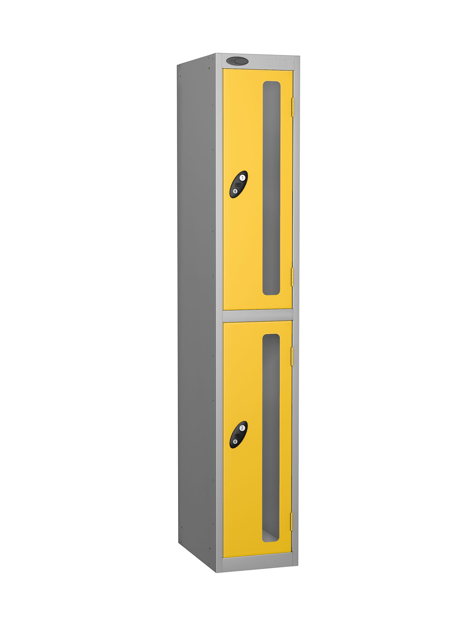 Probe 2 doors vision panel anti-stock theft locker yellow