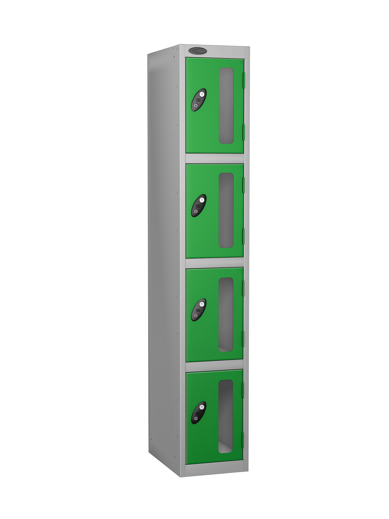 Probe 4 doors vision panel anti-stock theft locker green