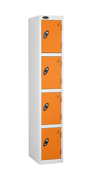 Probe 4 doors steel locker orange