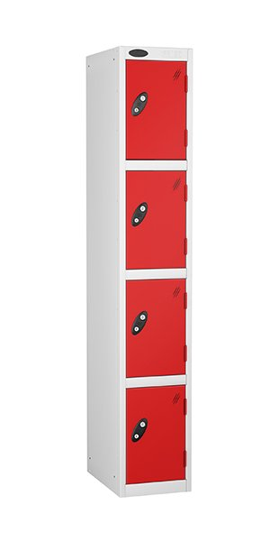 Probe 4 doors steel locker red