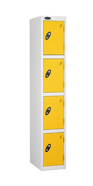 Probe 4 doors steel locker yellow