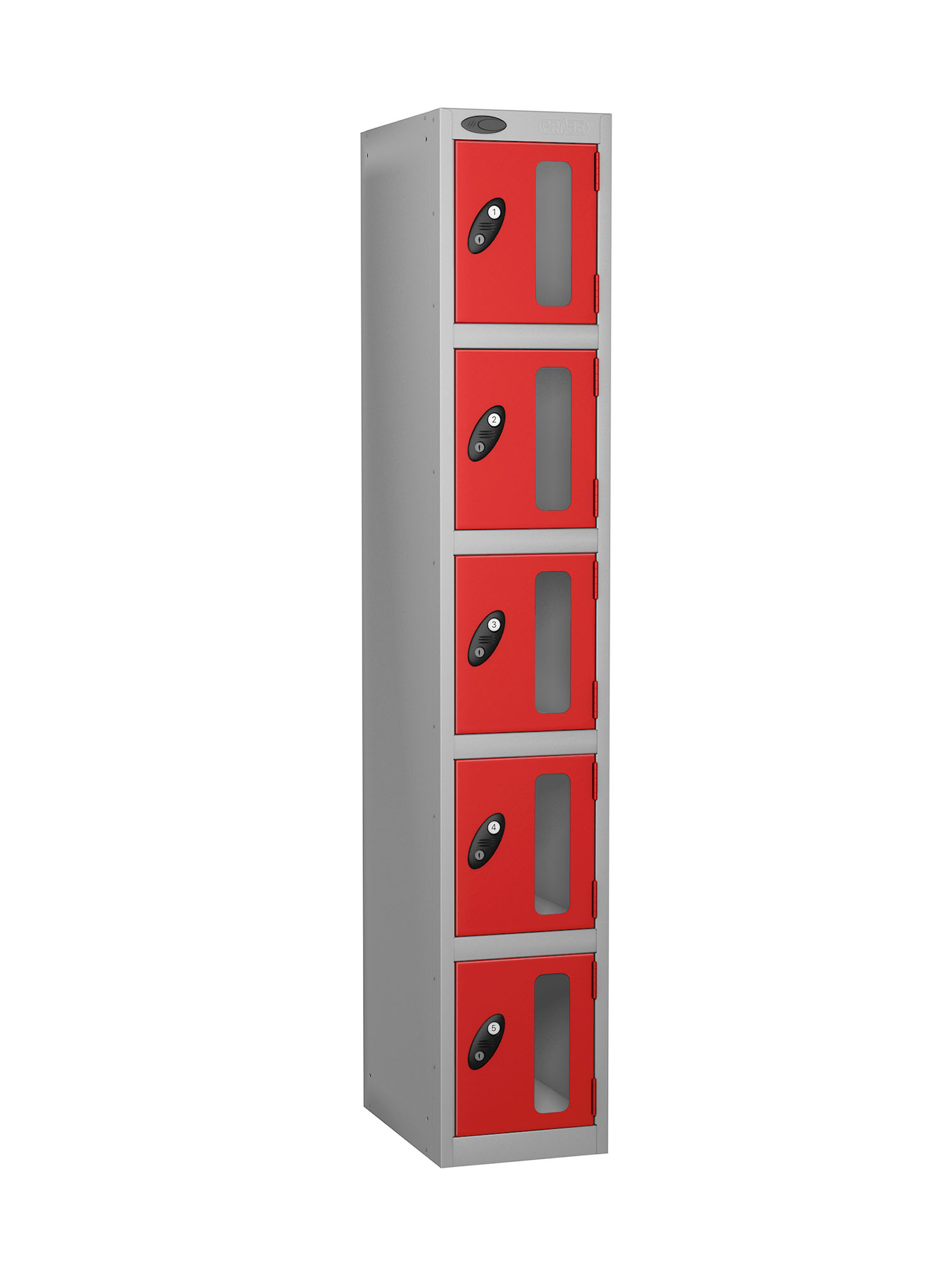 Probe 5 doors vision panel anti-stock theft locker red