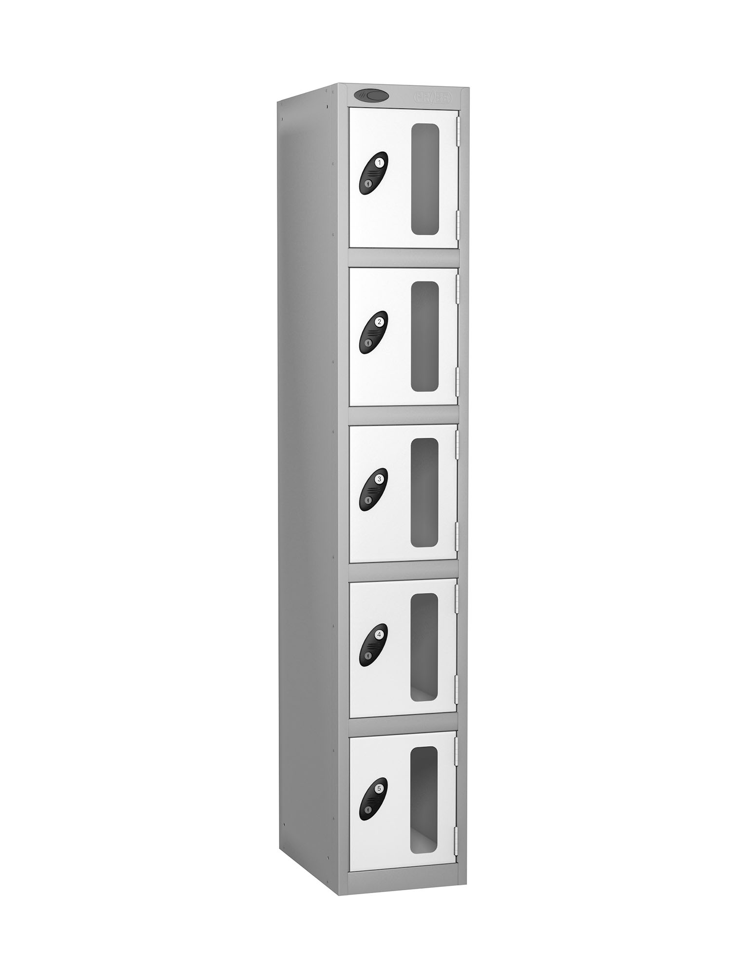 Probe 5 doors vision panel anti-stock theft locker white