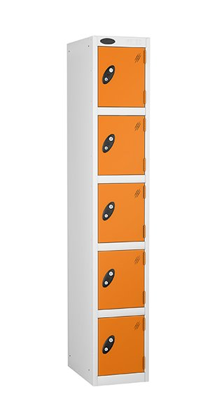 Probe 5 doors steel locker orange