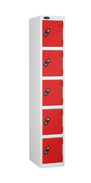 Probe 5 doors steel locker red