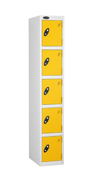 Probe 5 doors steel locker yellow