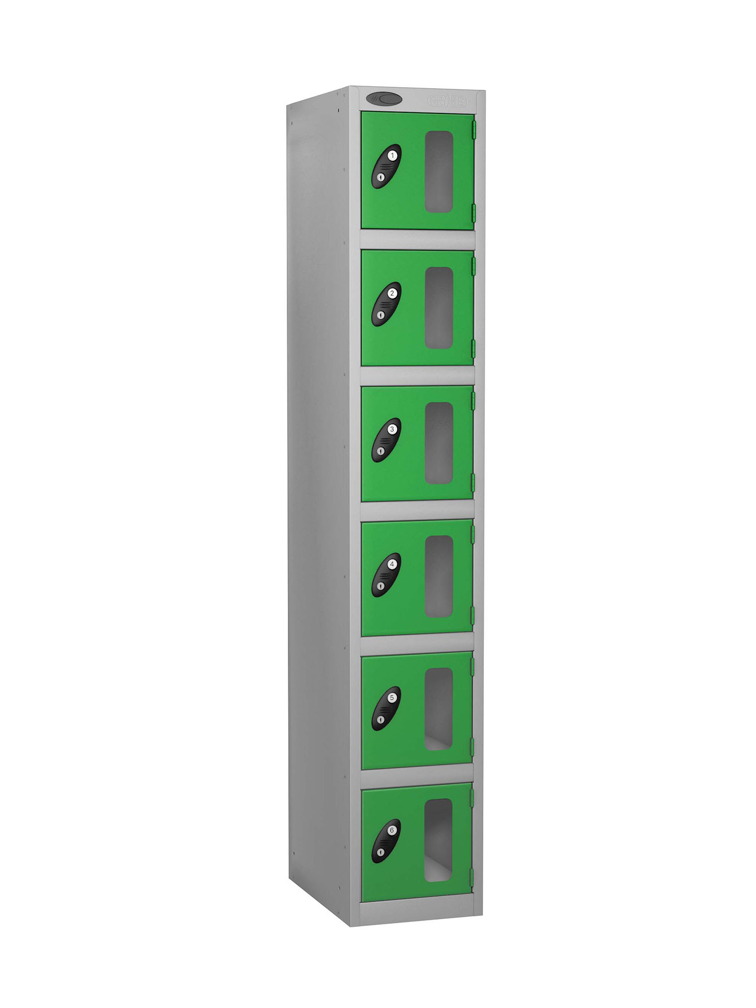 Probe 6 doors vision panel anti-stock theft locker green