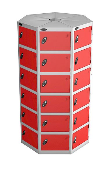 Probe 6 doors with 7 seed red podbox pod locker