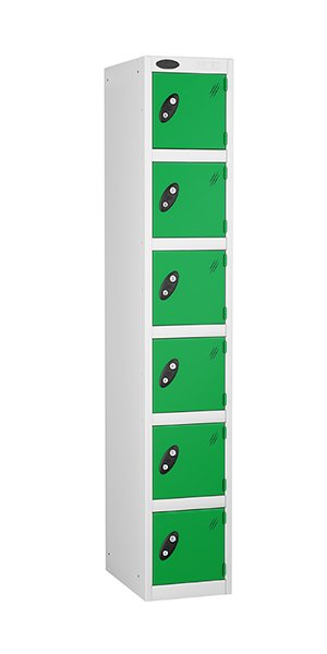 Probe 6 doors steel locker green