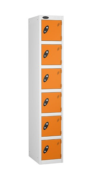 Probe 6 doors steel locker orange