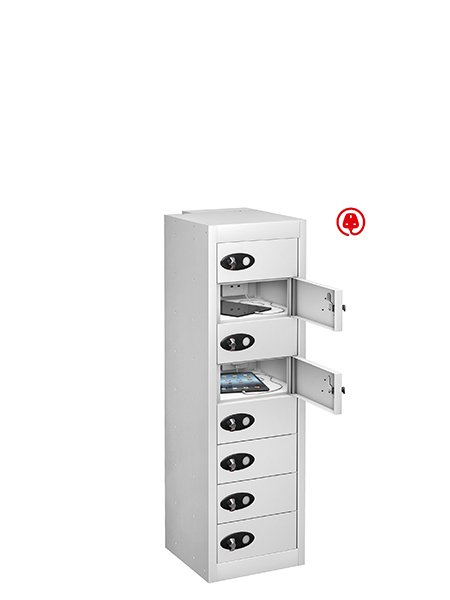Probe 8 doors white tabbox usb charging locker