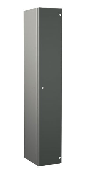 Probe aluminum locker 1 door dark grey