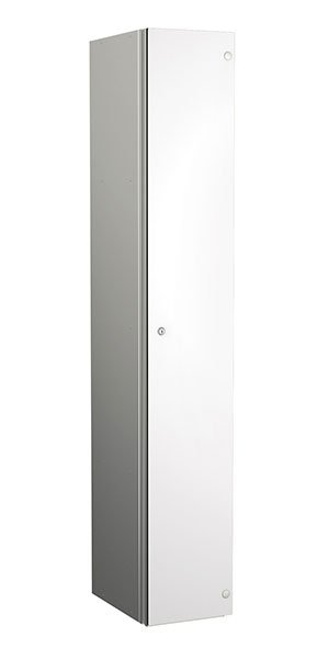 Probe aluminum locker 1 door dark white