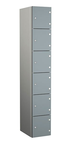 Probe aluminum locker 6 doors dark dust