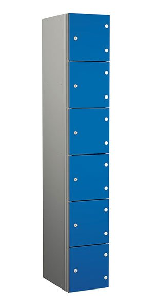 Probe aluminum locker 6 doors dark electric blue