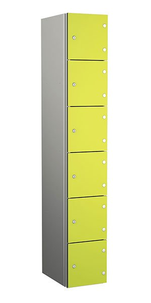 Probe aluminum locker 6 doors dark lime yellow