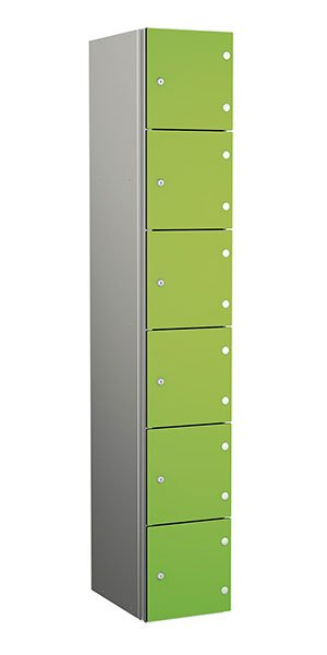 Probe aluminum locker 6 doors dark lime