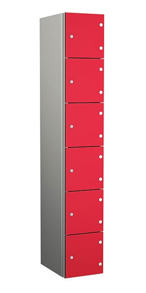Probe aluminum locker 6 doors dark red dynasty