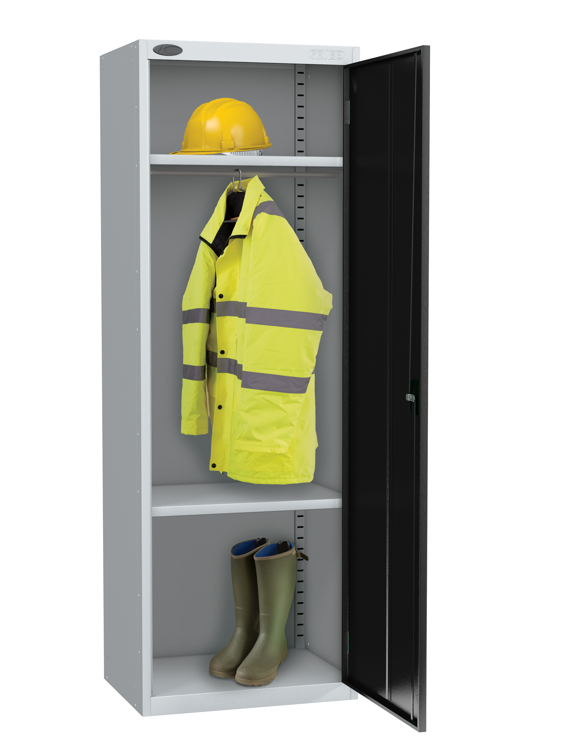 Probe high capacity specialist locker with division in black colour