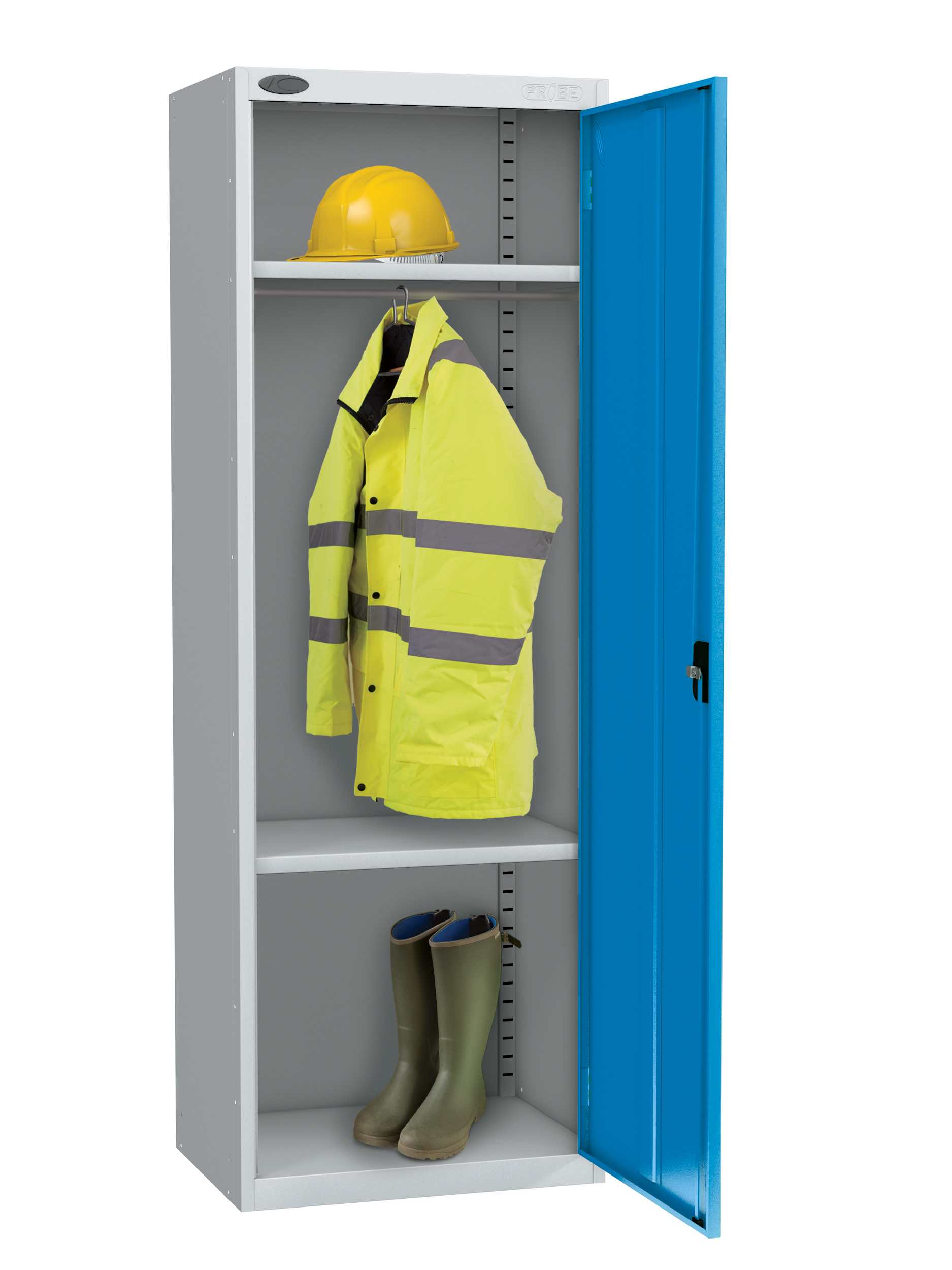 Probe high capacity specialist locker with division in blue colour
