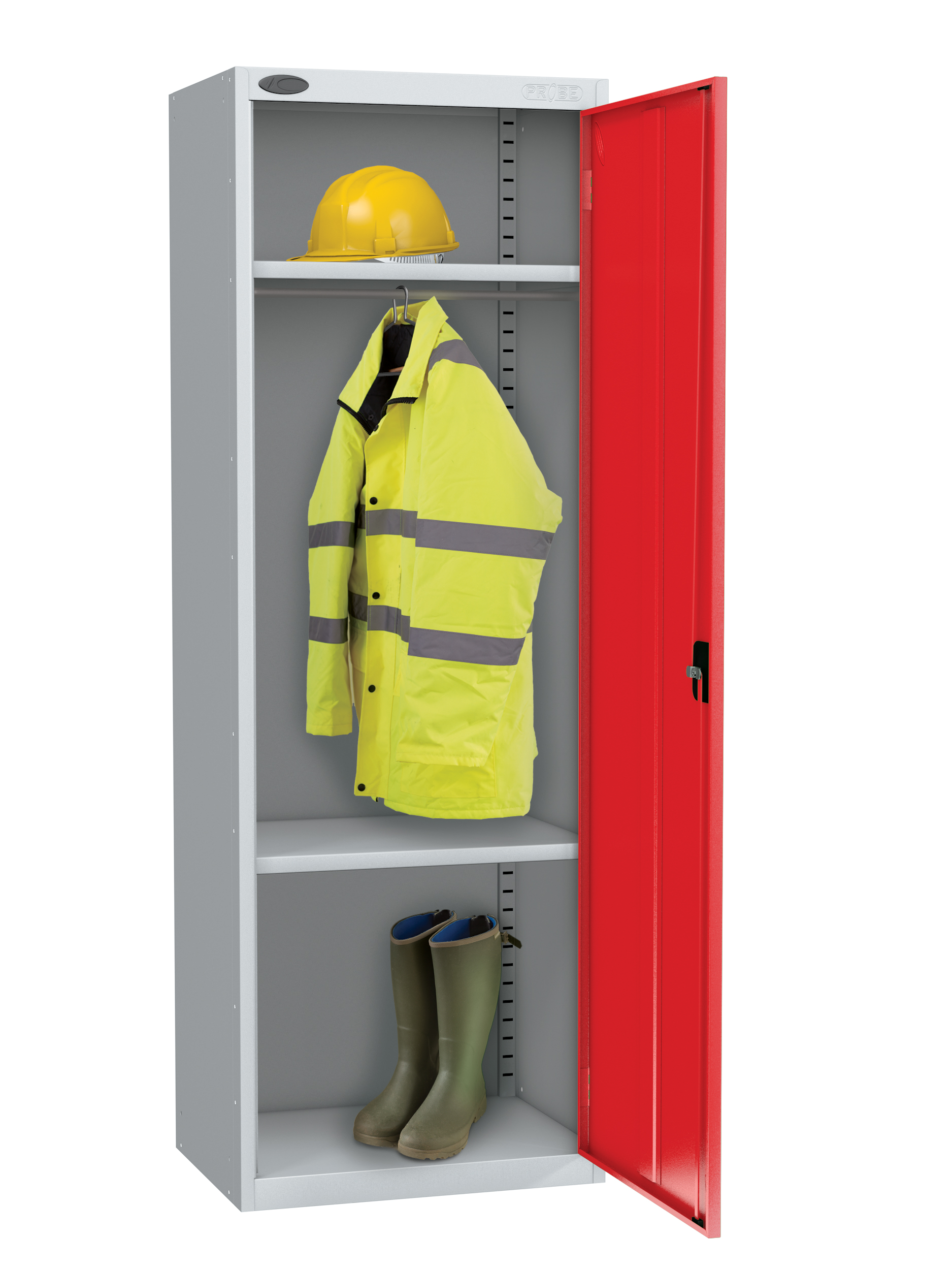 Probe high capacity specialist locker with division in red colour