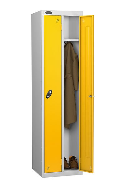 Probe twin yellow locker for one person