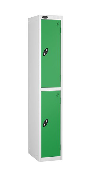 Probe two doors steel locker green