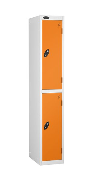Probe two doors steel locker orange
