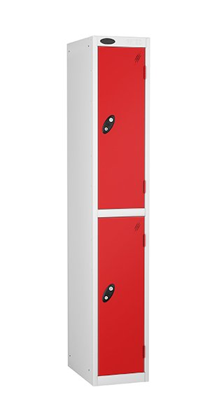 Probe two doors steel locker red