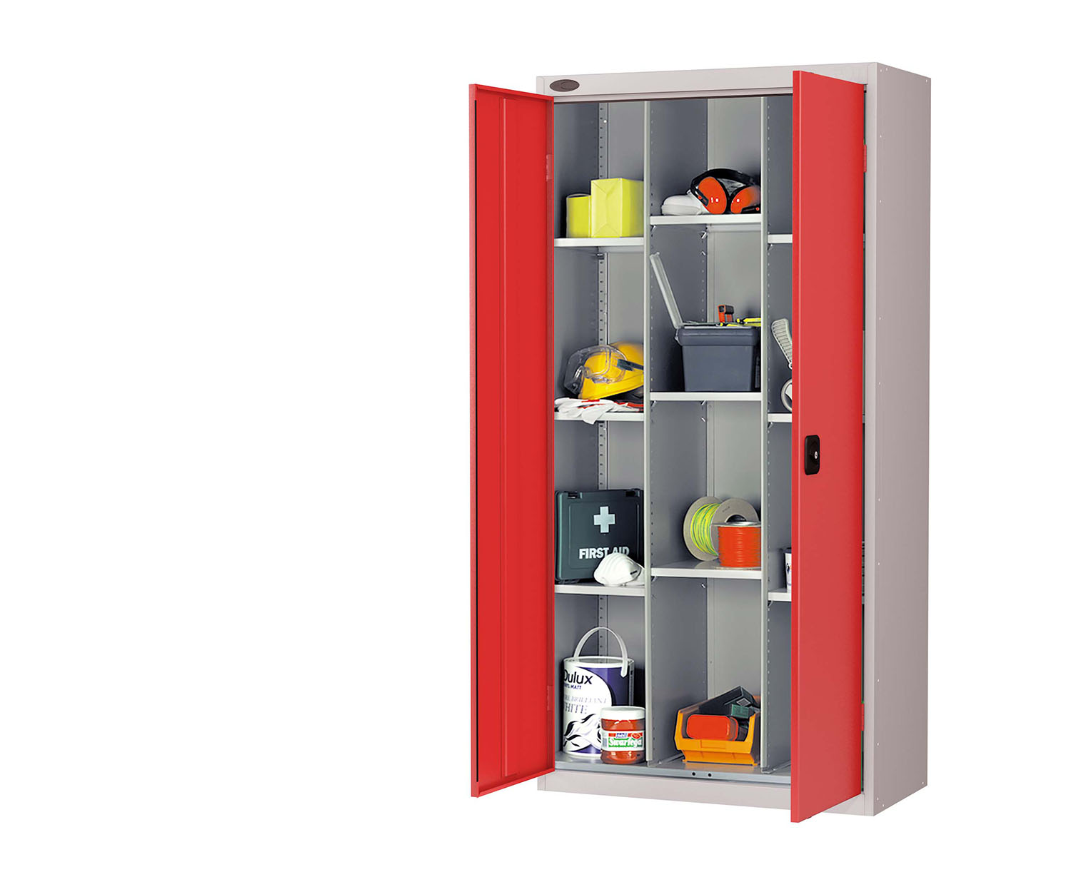 Probe compartment cupboard red