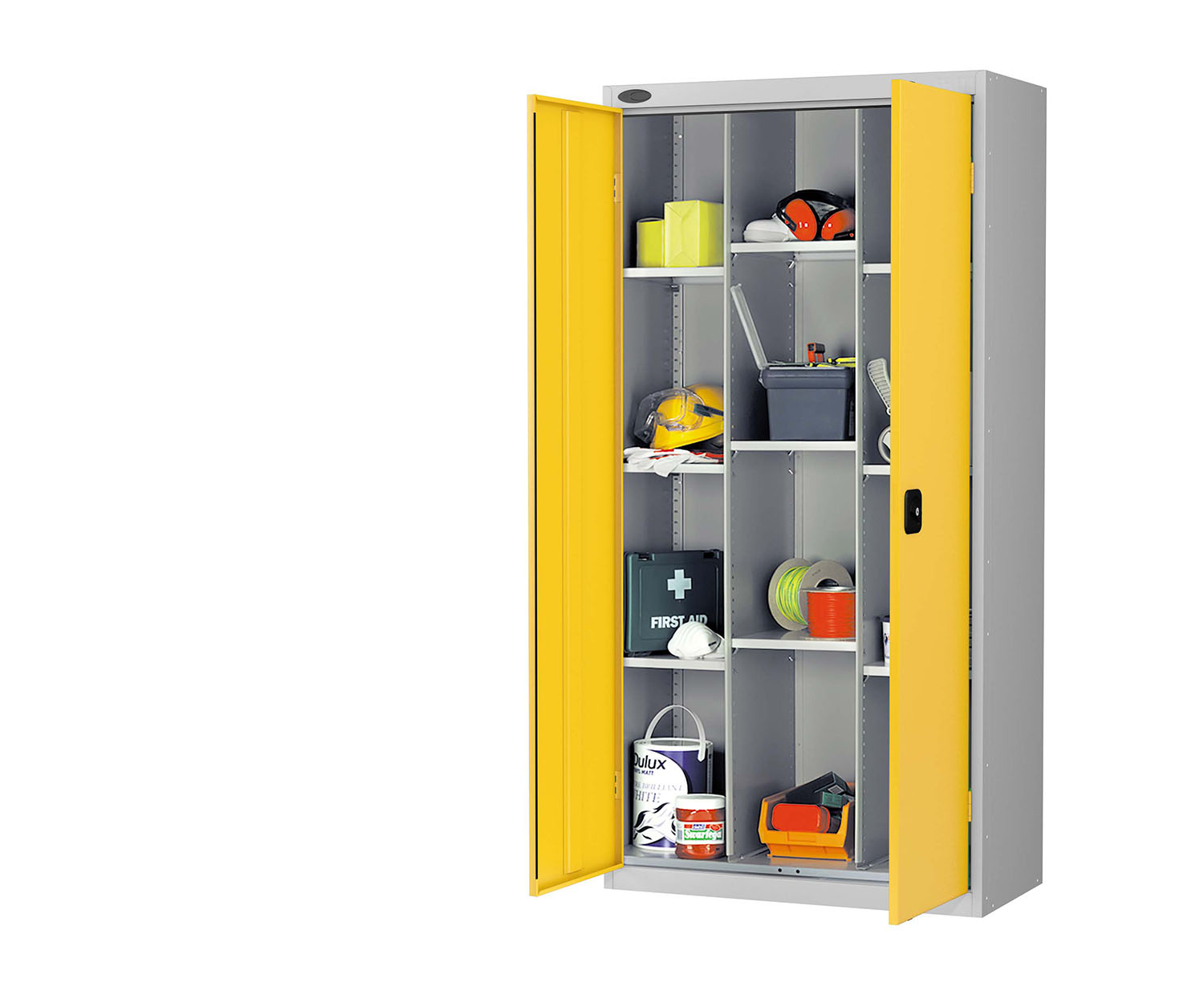 Probe compartment cupboard yellow