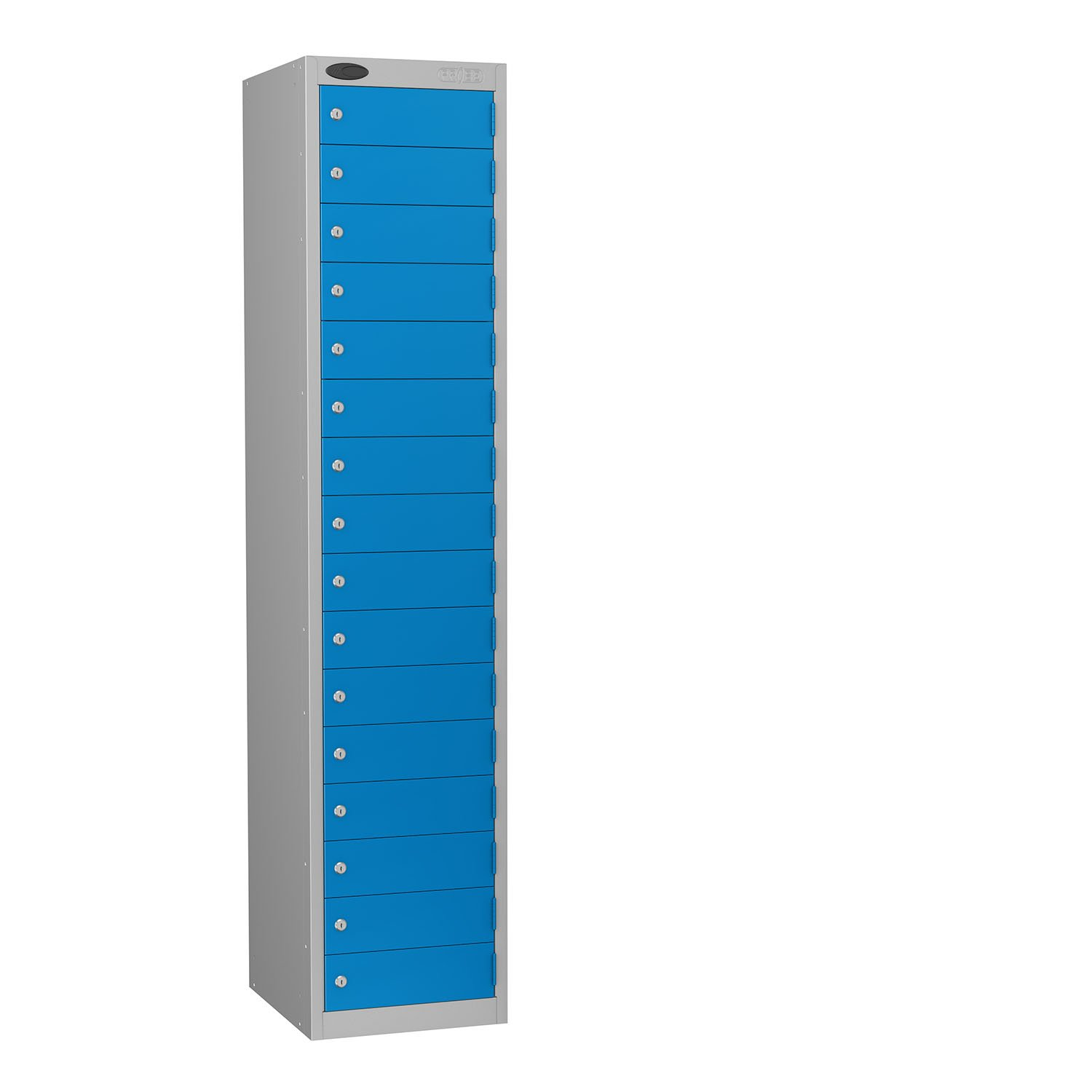 Probe 16 doors small compartments lockers in blue colour