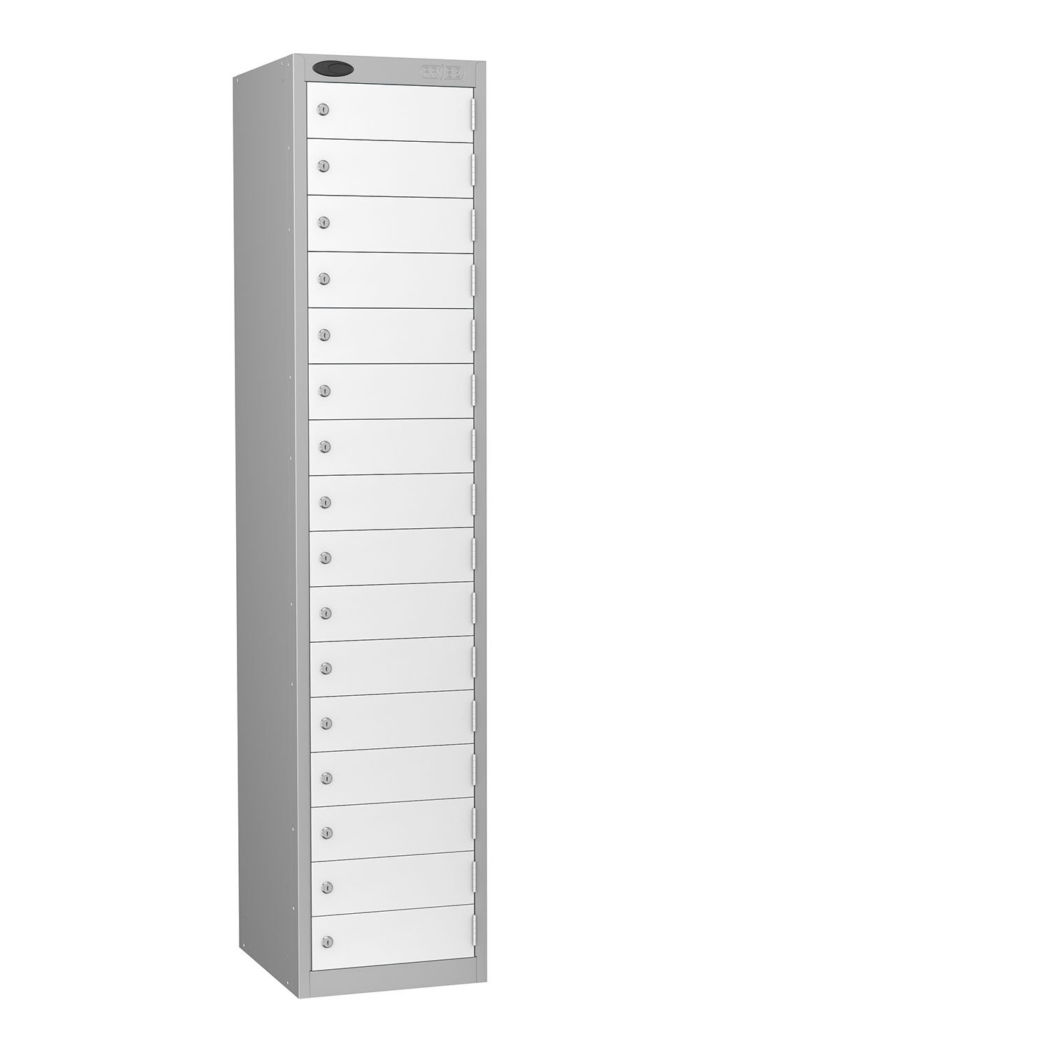 Probe 16 doors small compartments lockers in white colour