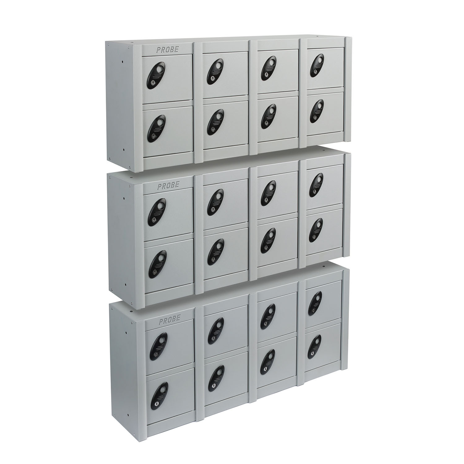 Probe 8 doors minibox wall mounted lockers in silver colour