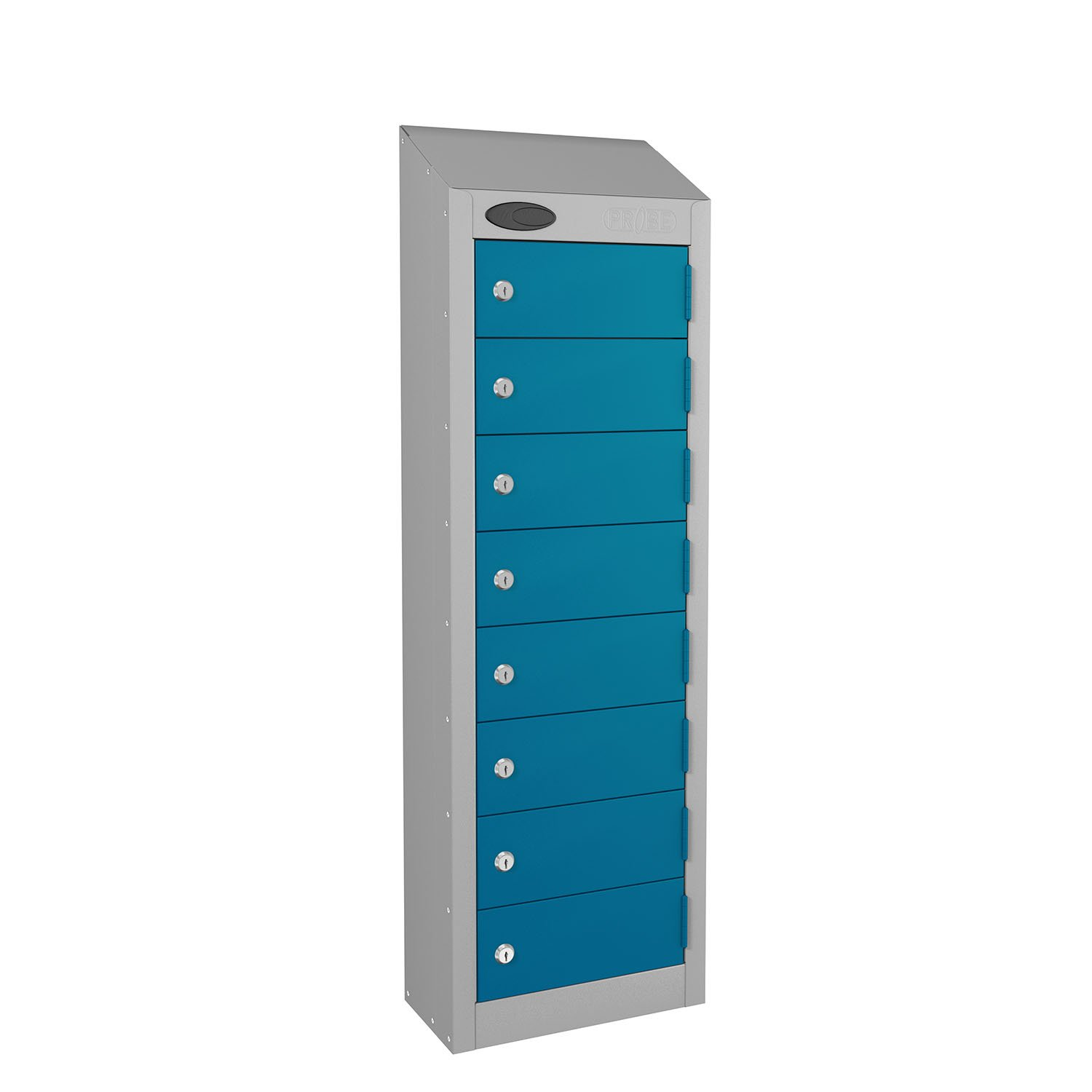Probe 8 doors small compartment personal locker in blue colour