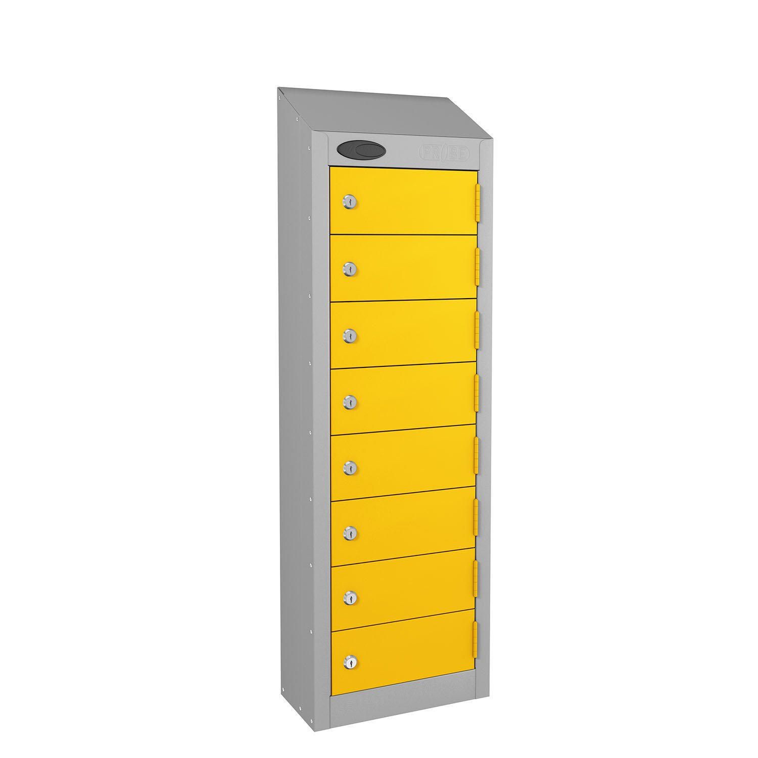 Probe 8 doors small compartment personal locker in yellow colour