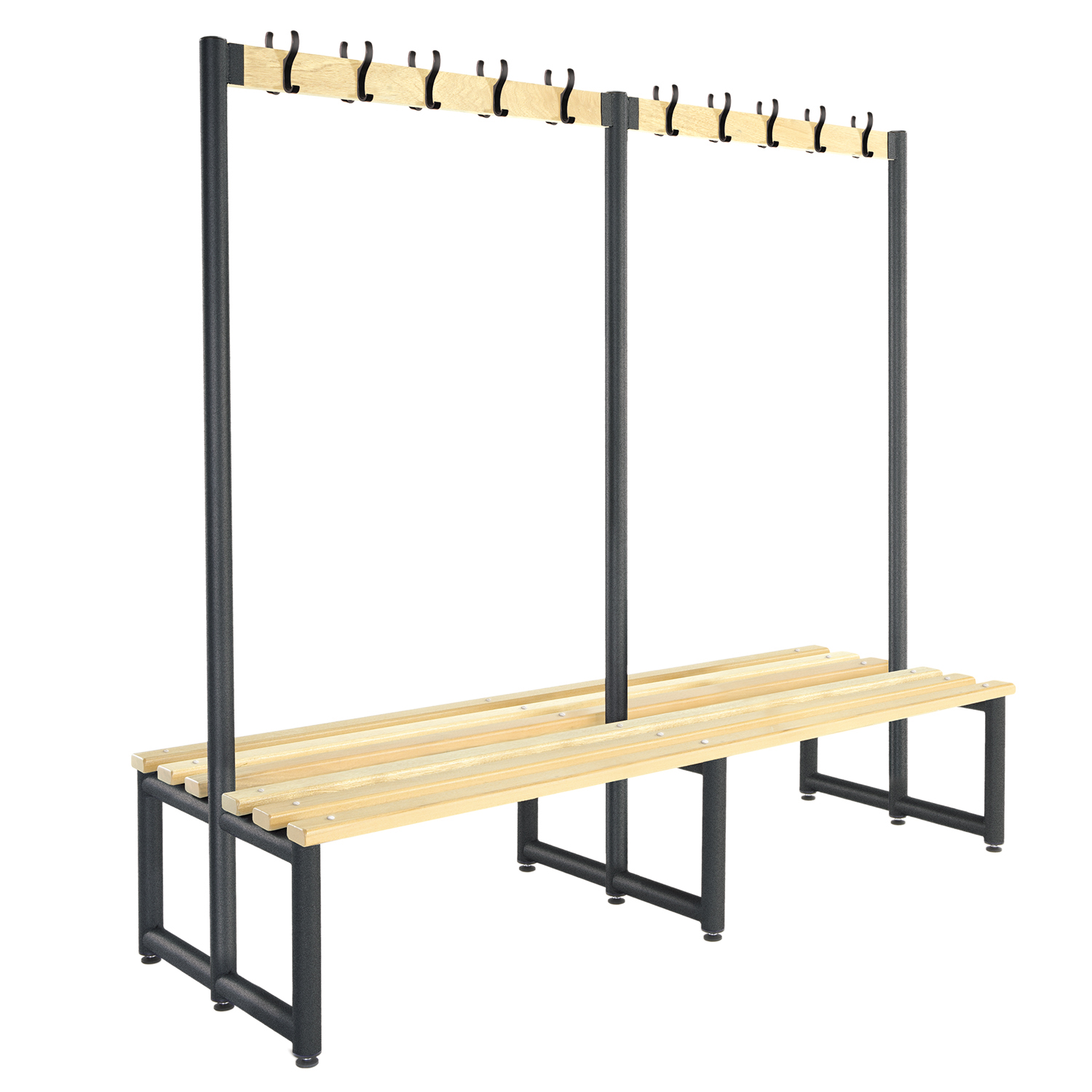 Probe cloakroom hook bench double sided