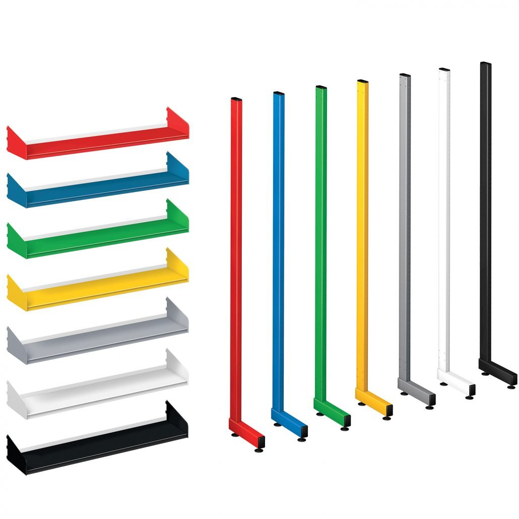 Probe technic library shelving colours
