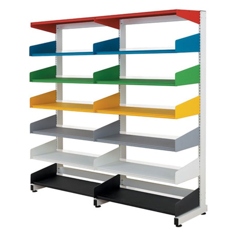 Probe technic library shelving multi colour racks